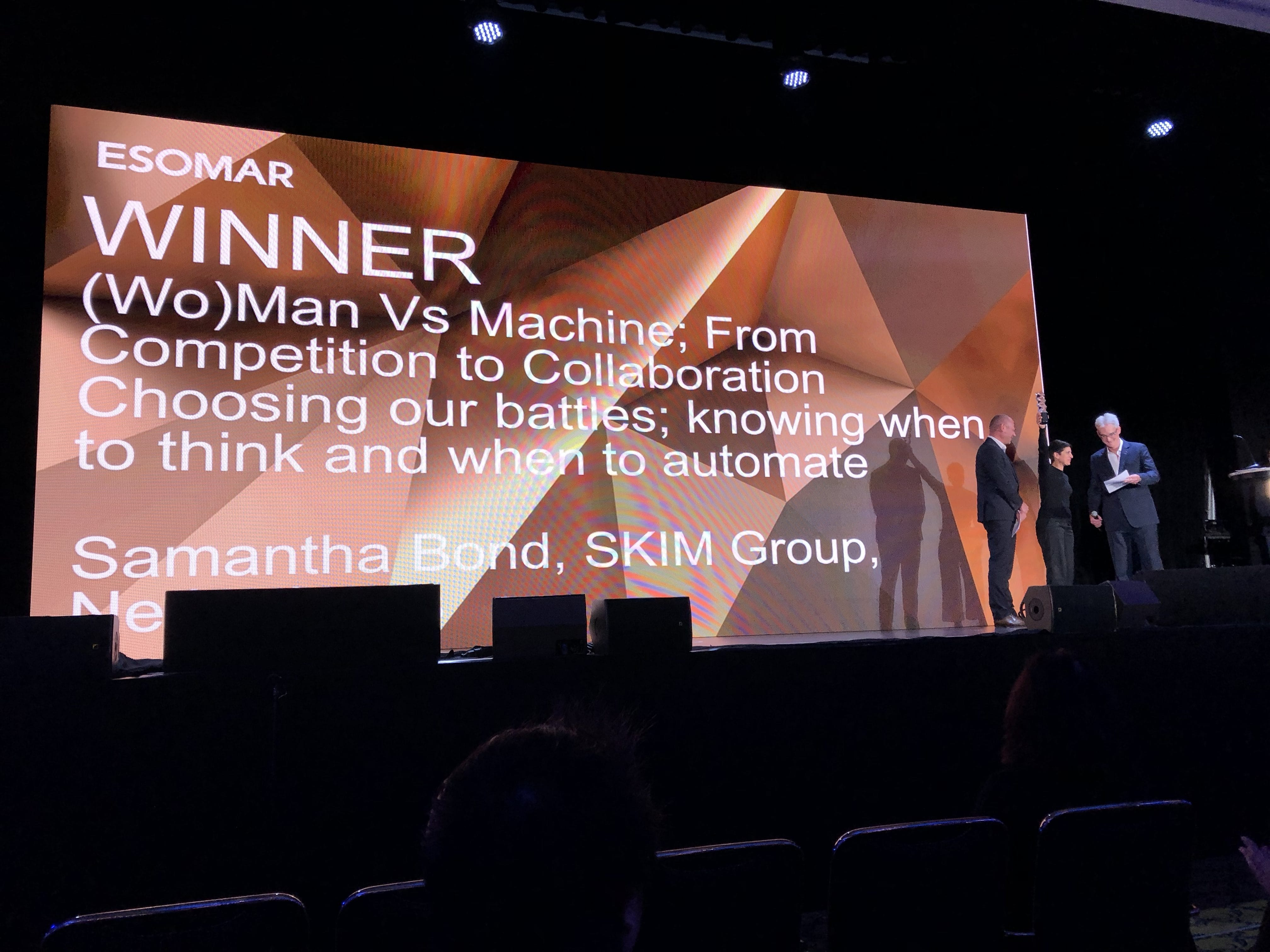 SKIM won ESOMAR Best Paper Award 2017/2018
