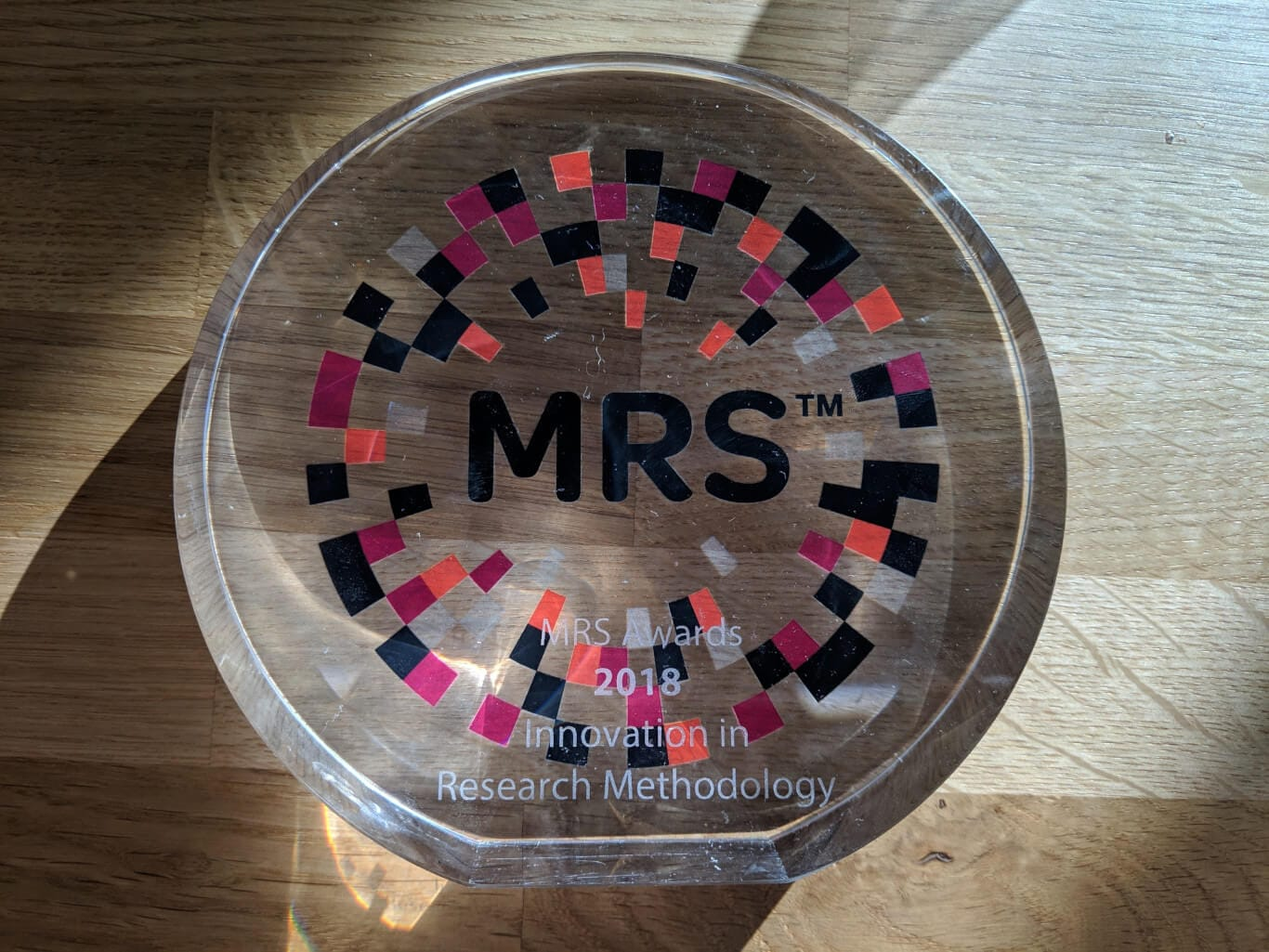 SKIM won MRS Innovation in Research Methodology Award 2018