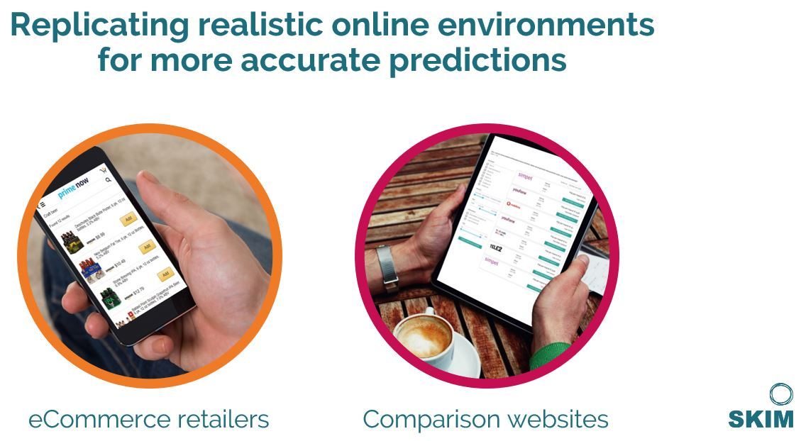 Predicting online shopper behavior via replicated environments