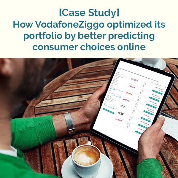 Case study: How VodafoneZiggo optimized its portfolio by better predicting consumer choices online