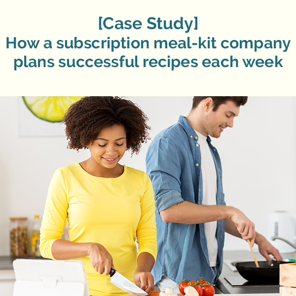 Case study: How a subscription meal kit company plans successful recipes each week